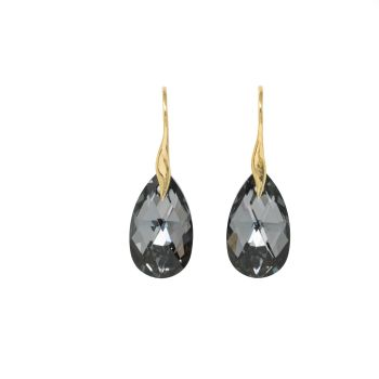 Sterling Silver Vermeil Black Silver Night Earrings