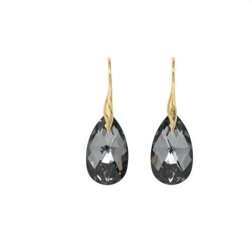 Sterling Silver Vermeil Black Silver Night Earrings