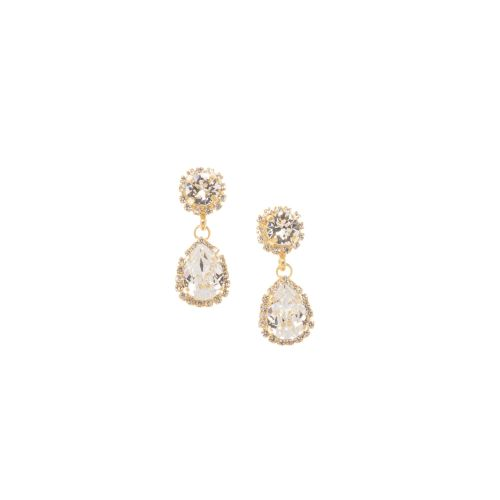Pear Crystal Drop Earrings - Small-wrong photo