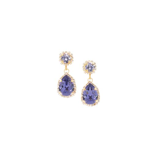 Tanzanite and Lavender Pear Drop Earrings