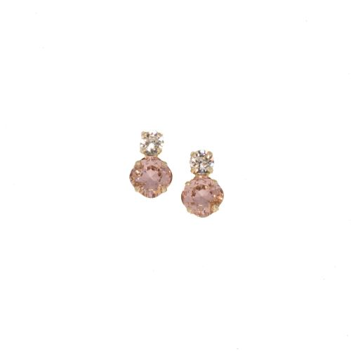 Light Peach Stud Earrings