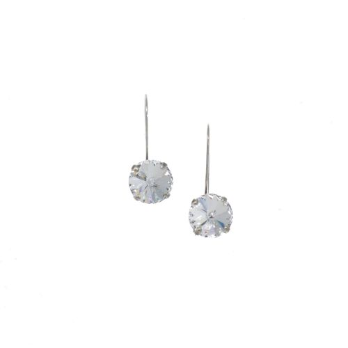 Rivoli Crystal Drop Earrings