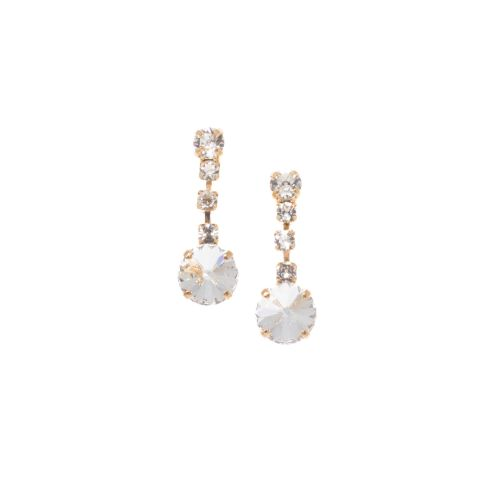 Rivoli Crystal Fancy Drop Earrings