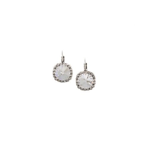 Clear Crystal Rivoli Earrings