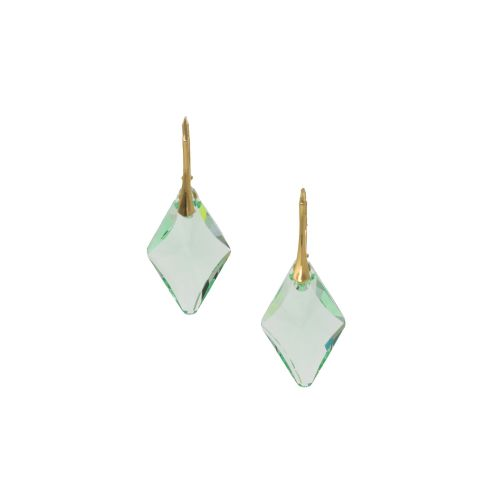 Sterling Silver Green Deco Crystal Earrings