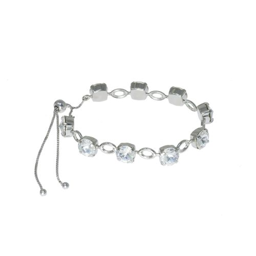 Crystal Openlink Tennis Bracelet with Slider