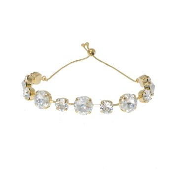 Crystal Rivoli Bracelet with Adjustable Slider