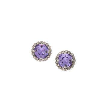 Tanzanite Cushion Stud Earrings