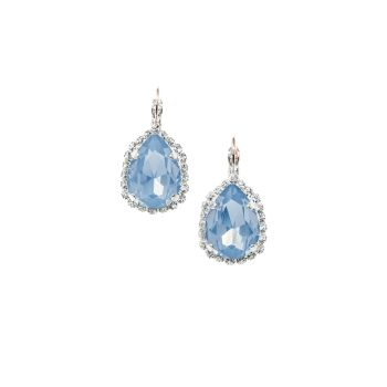 Light Blue Opal Pear Earrings