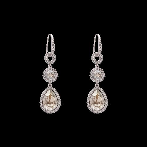 Amy Earrings - Silver Shade