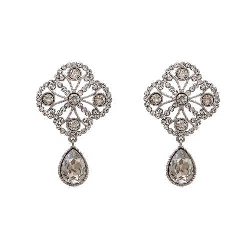 Miss Lola Earrings - Crystal