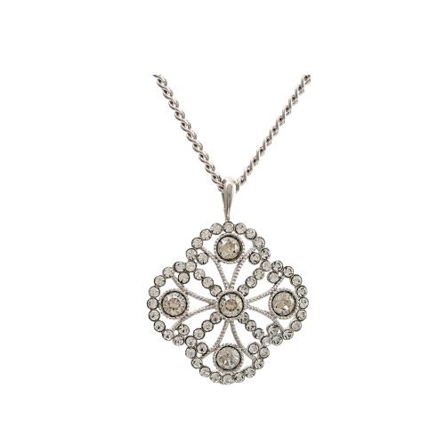 Miss Lola Necklace - Crystal