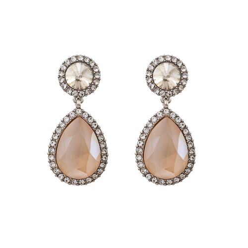 Miss Carlotta Earrings - Ivory Cream Lacquer