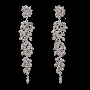 Laurel Earrings - Crystal