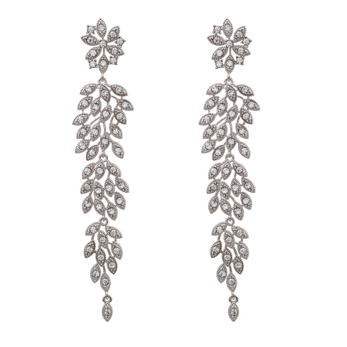 Laurel Earrings - Crystal