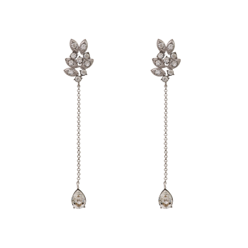 Miss Laurel Earrings - Crystal