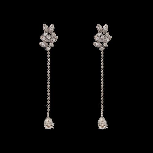 Miss Laurel Earrings - Crystal