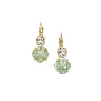 Light Green Square Cushion Earrings