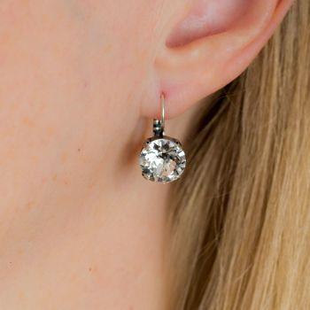 Large Crystal Diamond Drop Earrings