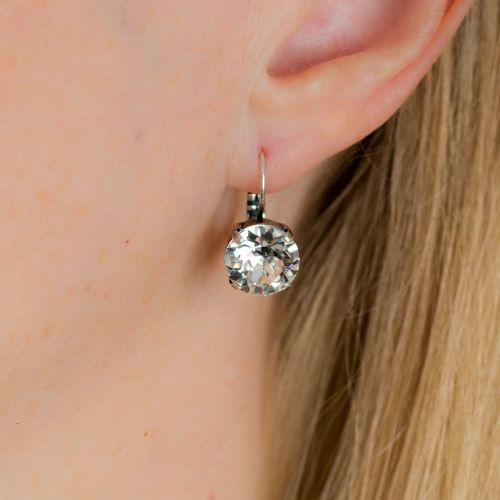 Large Crystal Diamond Drop Earrings