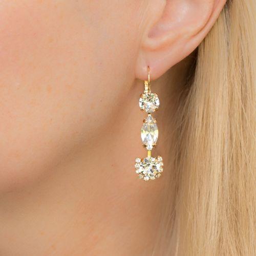 Rivoli Crystal Fancy Drop Earrings
