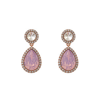 Miss Carlotta Earrings - Rose Water Opal