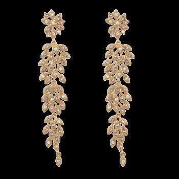 Laurel Earrings - Watercolours