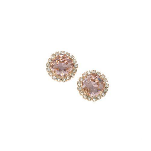 Vintage Rose Crystal Earrings