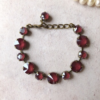 Dark Red Rivoli Bracelet