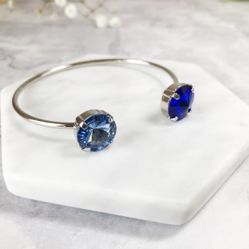Blue Sapphire Crystal Bangle