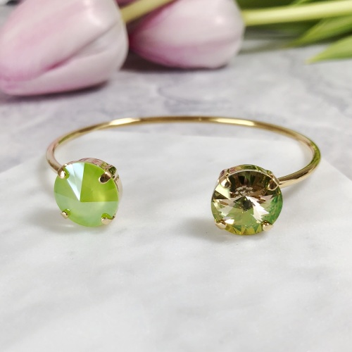 Lime Green Crystal Bangle