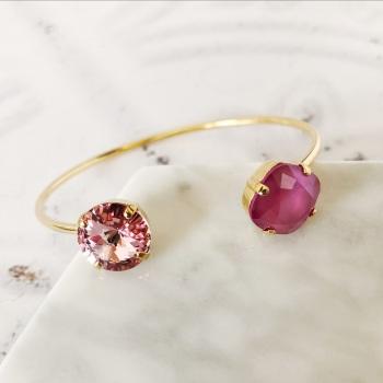 Pink Crystal Bangle