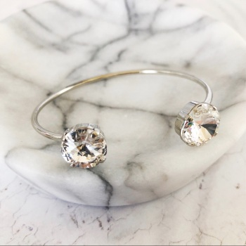 Double Diamond Crystal Bangle