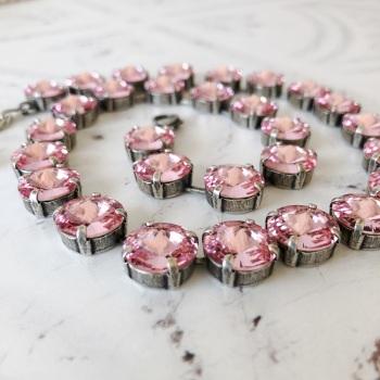 Rose Pink Rivoli Choker