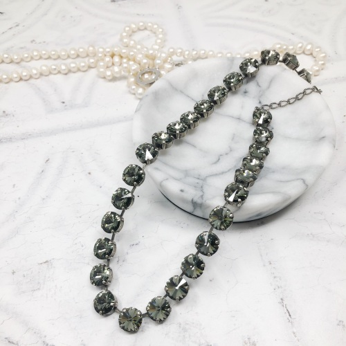 Grey Black Diamond Rivoli Choker