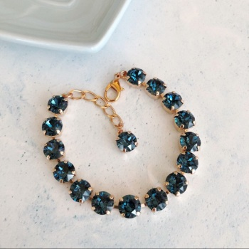 Sapphire Medium Crystal Tennis Bracelet