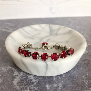 Ruby Medium Crystal Tennis Bracelet