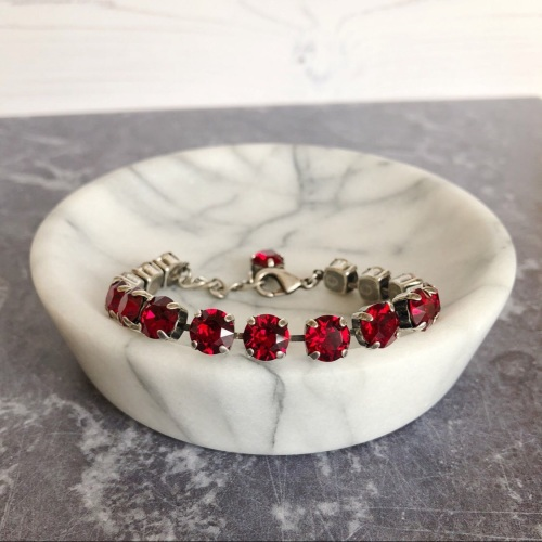 Ruby Medium Crystal Tennis Bracelet