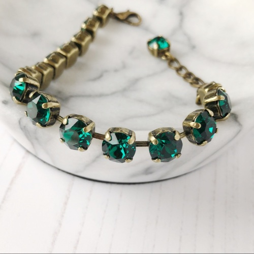 Emerald Medium Crystal Tennis Bracelet