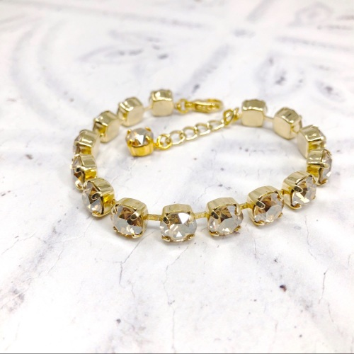 Champagne Medium Crystal Tennis Bracelet