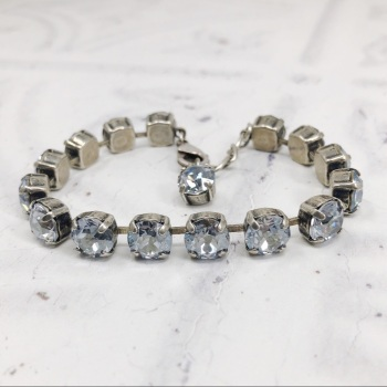 Ice Blue-Grey Medium Crystal Tennis Bracelet