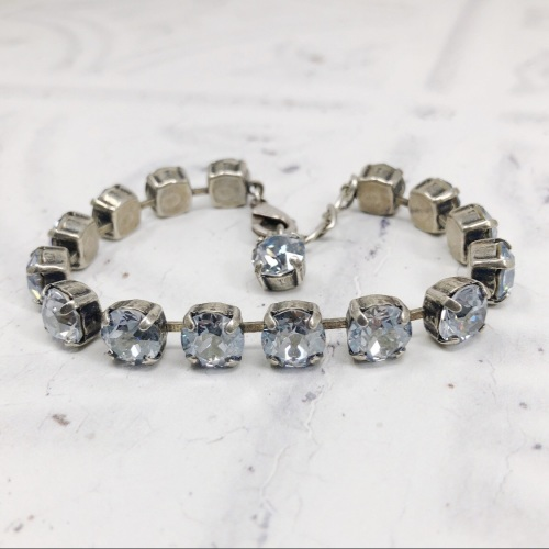 Blue-Grey Medium Crystal Tennis Bracelet