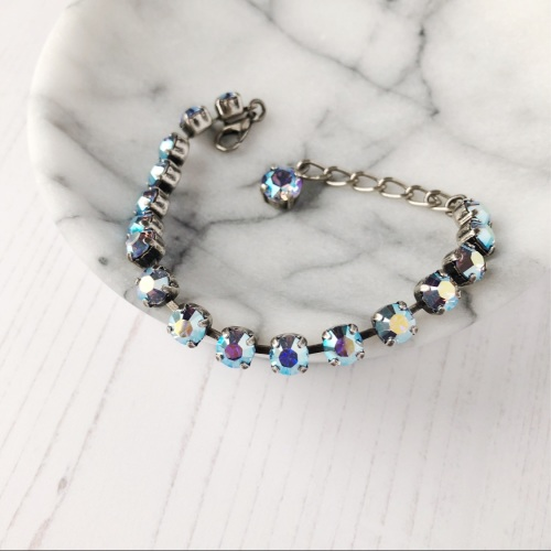 Light Blue Small Crystal Tennis Bracelet