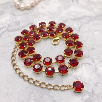Ruby Red Crystal Choker