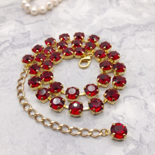 Ruby Red Crystal Choker
