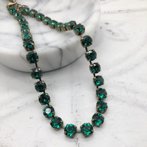 Emerald Green Crystal Choker