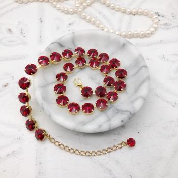 Ruby Red Rivoli Choker