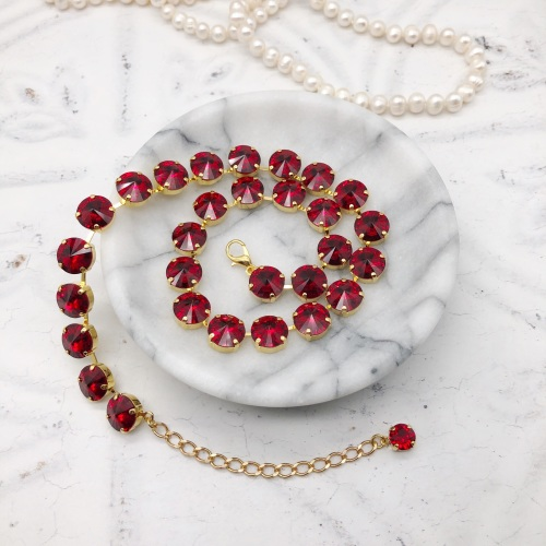 Ruby Red Rivoli Choker