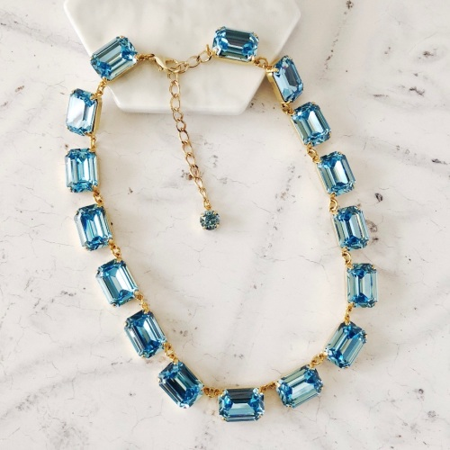 Aquamarine Crystal Anna Collet Necklace