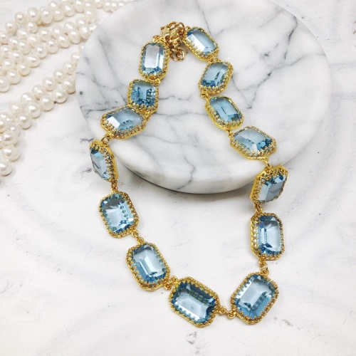 Aquamarine Crown Riviere Necklace